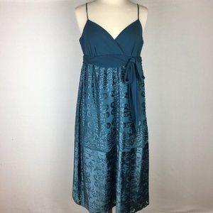 NWT Max and Cleo spaghetti strap dress in teal siz